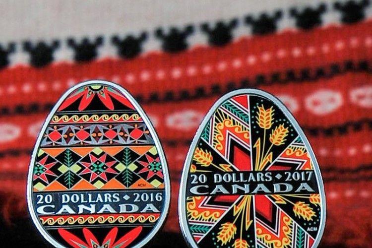 Канада випустила вже другу монету у формі української писанки