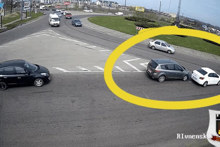 У Луцьку на Об'їзній сталася аварія (Відео)