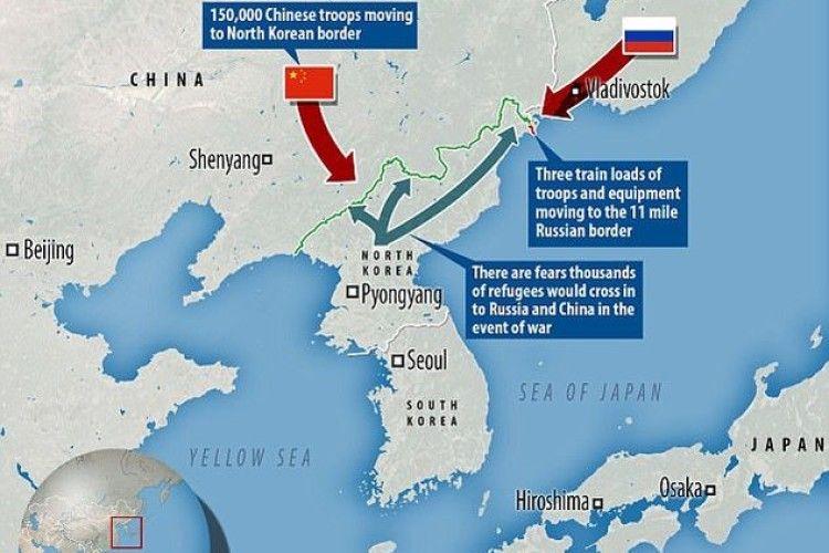 Росія відправила свої війська на кордон із КНДР