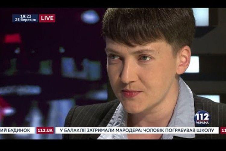 Савченко заспівала в ефірі і напророчила спільне майбутнє для Тимошенко, Медведчука і Путіна (Відео)