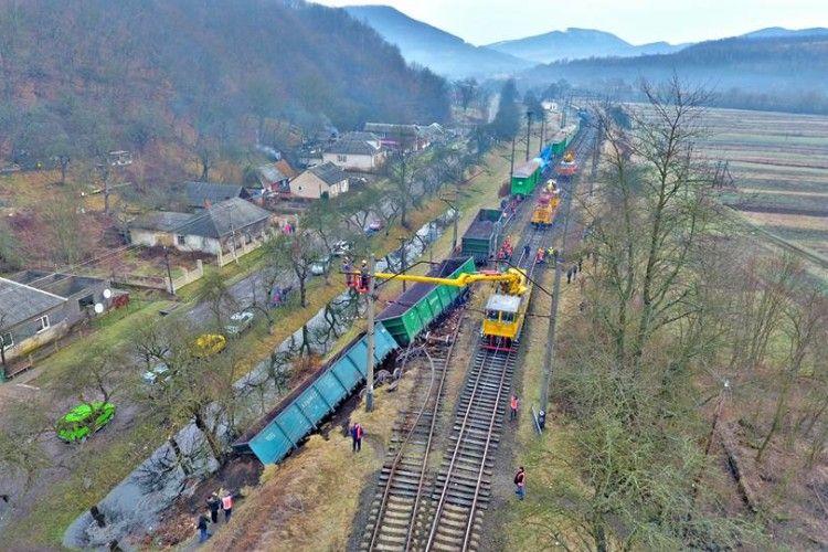 У Закарпатській області сталася масштабна залізнична аварія