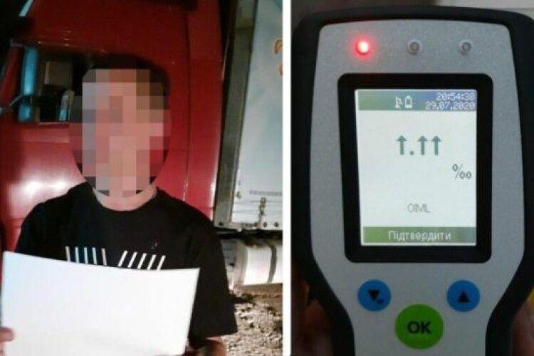 Під Києвом упіймали за кермом іноземця-далекобійника, у якого було понад 5,0 проміле алкоголю в крові