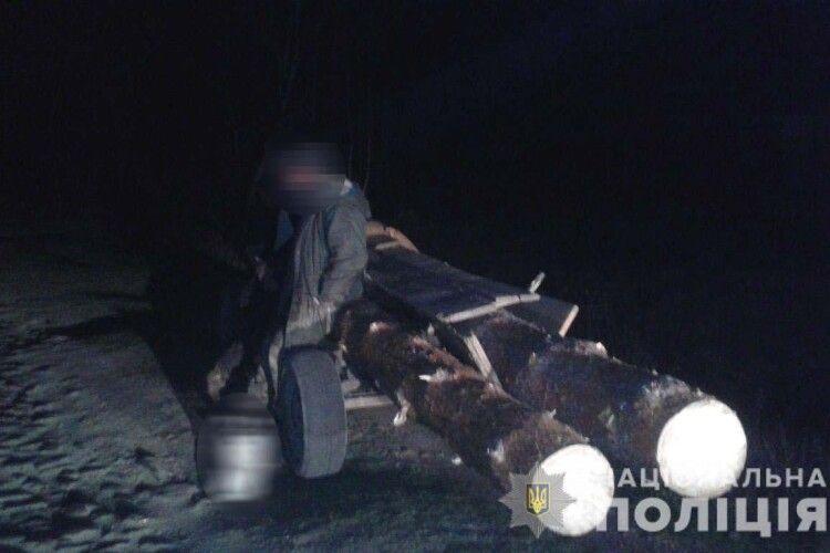 На Рівненщині злапали лісокрадунів із Великої Клецьки та Залізниці (фото)