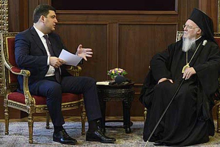 Вселенський Патріарх пообіцяв допомогу в об'єднанні українського православ'я