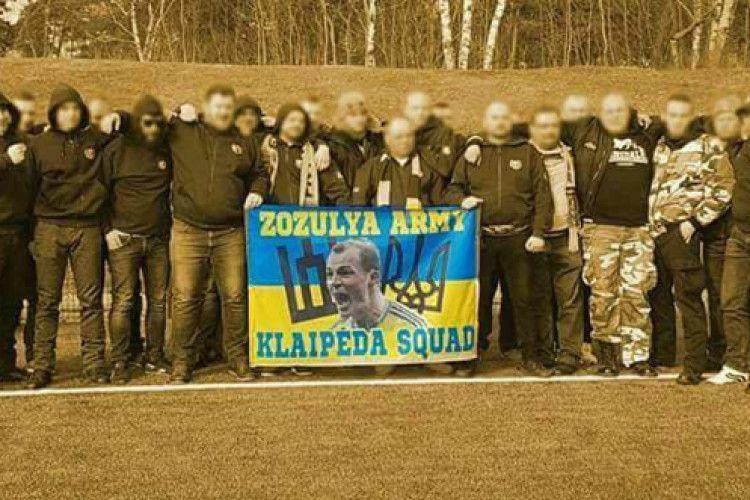 Литовські фанати підтримали Романа Зозулю (Фото)