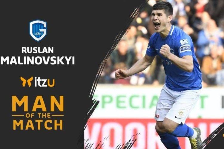 Руслана Маліновського визнали гравцем матчу