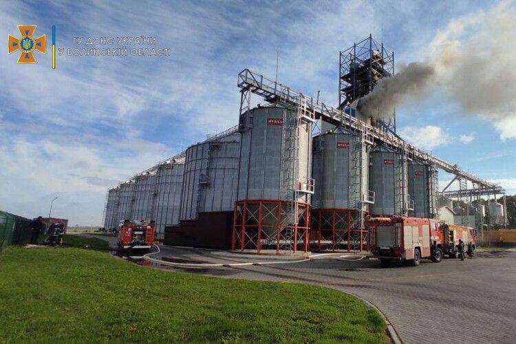 Пожежа на агропідприємстві на Волині: з'явилися деталі (Фото, відео)