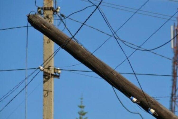 У селі на Горохівщині зникло майже 100 кілограмів дроту