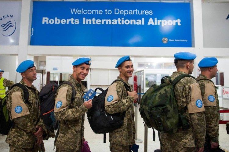 Українські миротворці повертаються з Ліберії після 14-річної місії