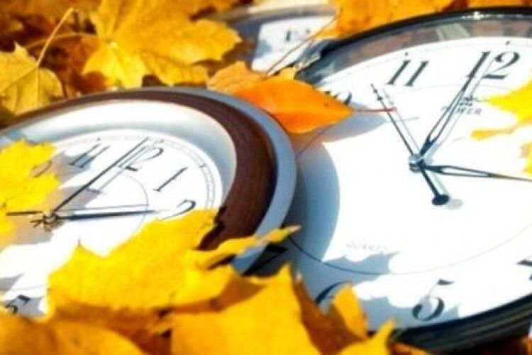 Україна 25 жовтня переходить на зимовий час