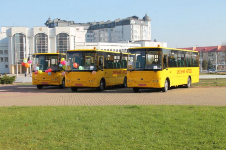 Три ОТГ на Волині отримали шкільні автобуси