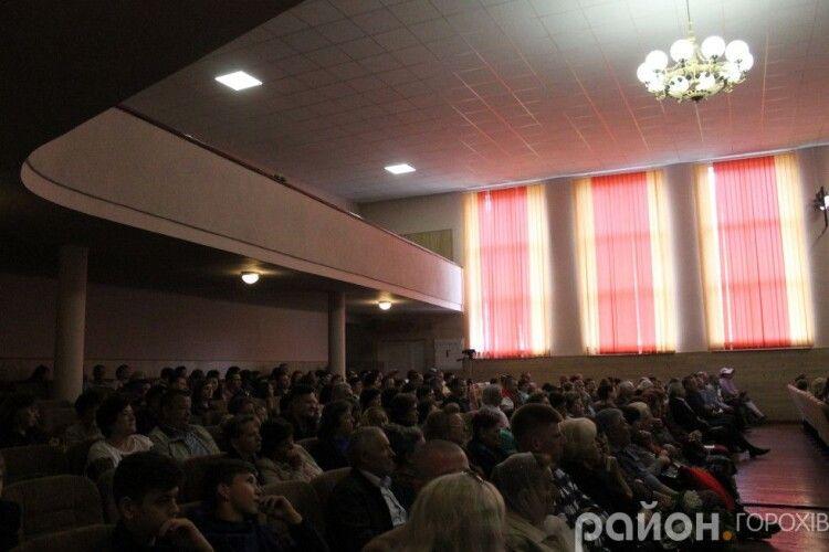 Після ремонту у горохівській «Просвіті» - концертна заметіль