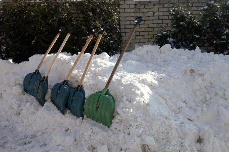 Взялися дружно за лопати: міський голова очолив громадську толоку з розчищення снігу (Фото. Відео)
