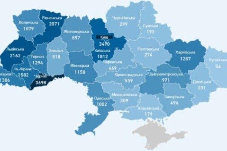 В Україні у неділю зафіксували 463 нових випадки COVID-19, на Волині – 27