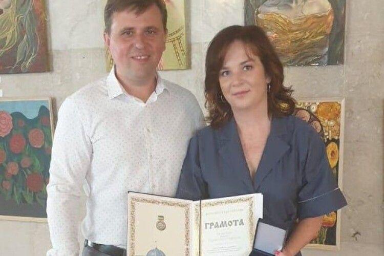 Лучанку нагородили грамотою Верховної Ради України
