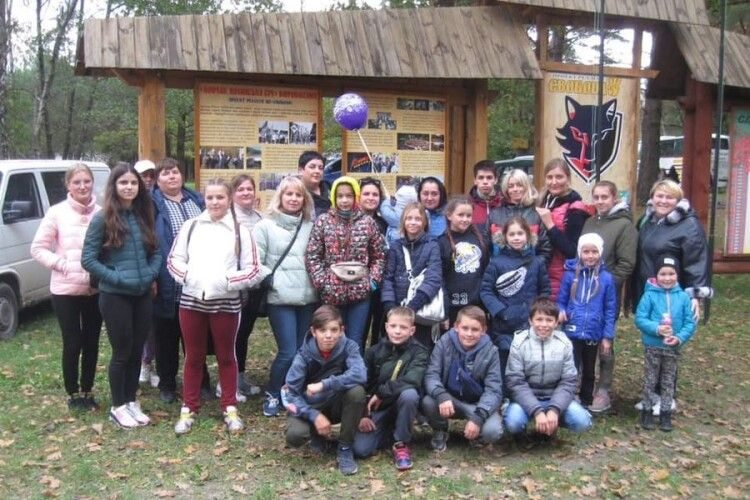 Діти волинських учасників АТО відвідали Вовчак