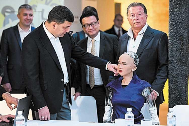 Прем'єр Гройсман провів «переговори» із… роботом Софією