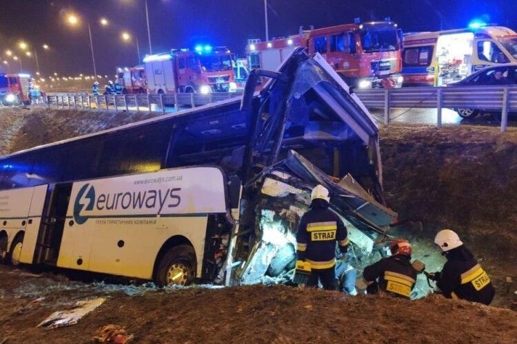 Повідомили попередню причину смертельної аварії автобуса з українцями у Польщі