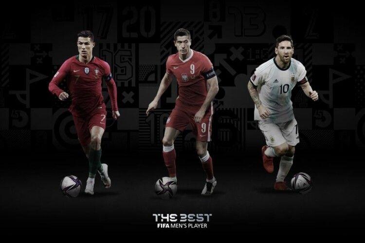 Претендентами на звання кращого футболіста 2020 року за версією ФІФА є Роналду, Мессі та Левандовський