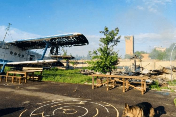 Пожежа на аеродромі біля Луцька: збитки сягають понад мільйон гривень (Відео)