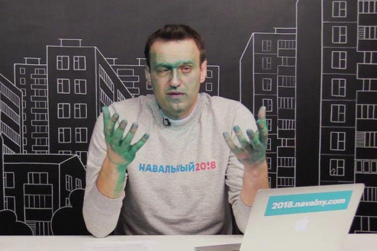 Навальний підозрює, що хімічний опік ока після зеленки може виявитися невиліковним (Відео)