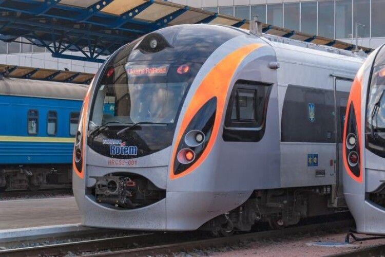 До Дня Незалежності призначено додатковий швидкісний поїзд Київ — Львів