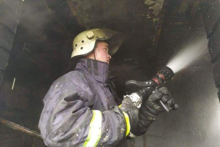 За тиждень на Волині ліквідовано 9 пожеж