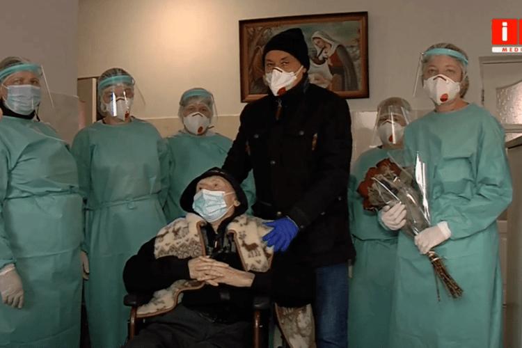 На Рівненщині 100-річний дідусь поборов коронавірус (Відео)