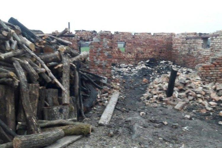 На Львівщині через кoнфлікт із лісорубами багатодітній матері спaлили стайню з худобою