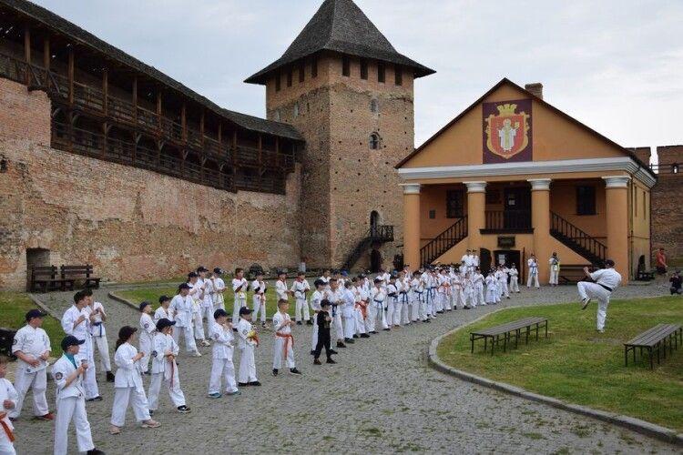 У Луцькому замку тренувалися каратисти (Фото, відео)