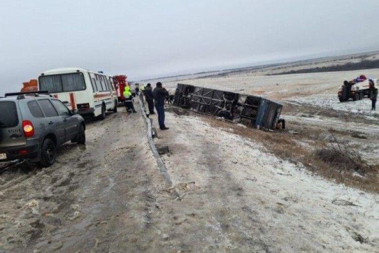 У Росії розбився автобус з українцями, є жертви