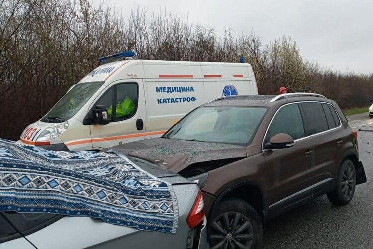 Біля Зеленого гаю сталася потрійна аварія: постраждали діти (Фото)