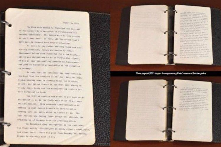 На аукціоні у США виставили щоденник Кеннеді із рядками про Гітлера