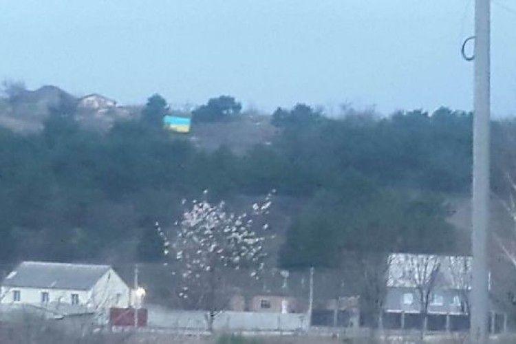 Над мечеттю в Сімферополі вивісили український прапор (фото)