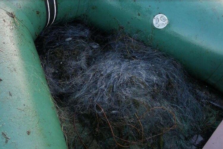Волинські браконьєри наловили сітками карасів на кількасот гривень