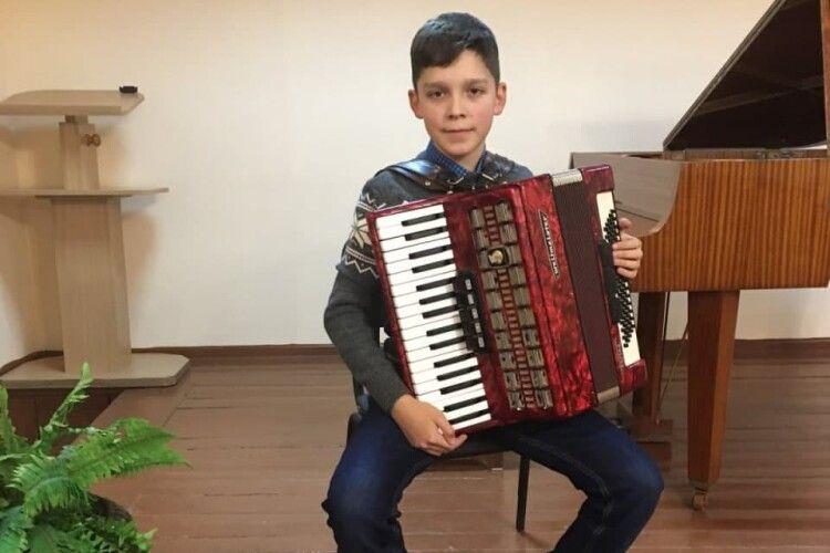 Третьокласник з Волині став лауреатом премії Всеукраїнського музичного конкурсу (Фото)