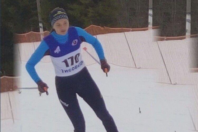 Юна представниця волинської команди виборола золото на Чемпіонаті України з лижних гонок серед юнаків та дівчат