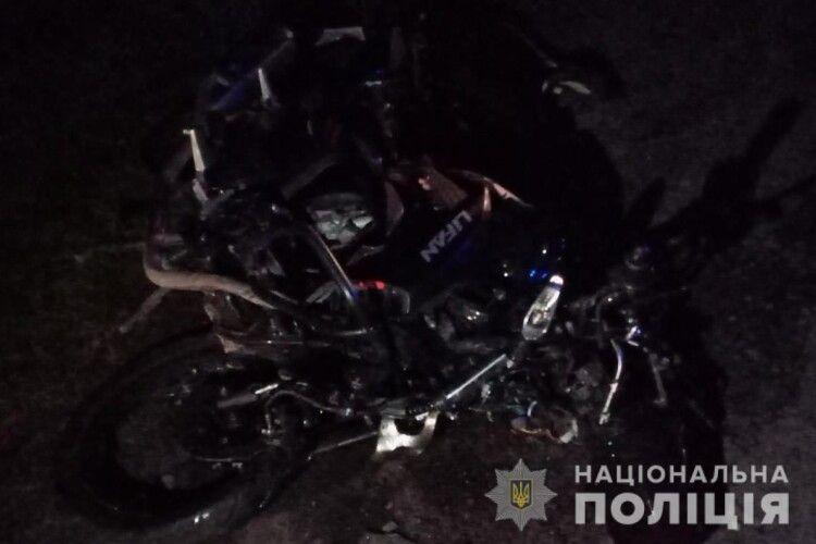 У Луцькому районі в ДТП загинув мотоцикліст