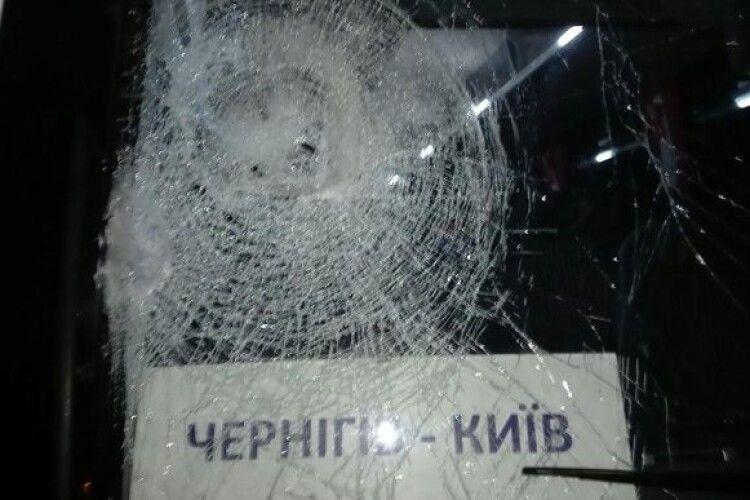 Бандити регулярно вчиняють напади на рейсові автобуси «Київ-Чернігів»