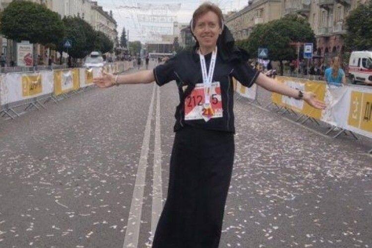 Монахиня посіла перше місце на півмарафоні у Луцьку