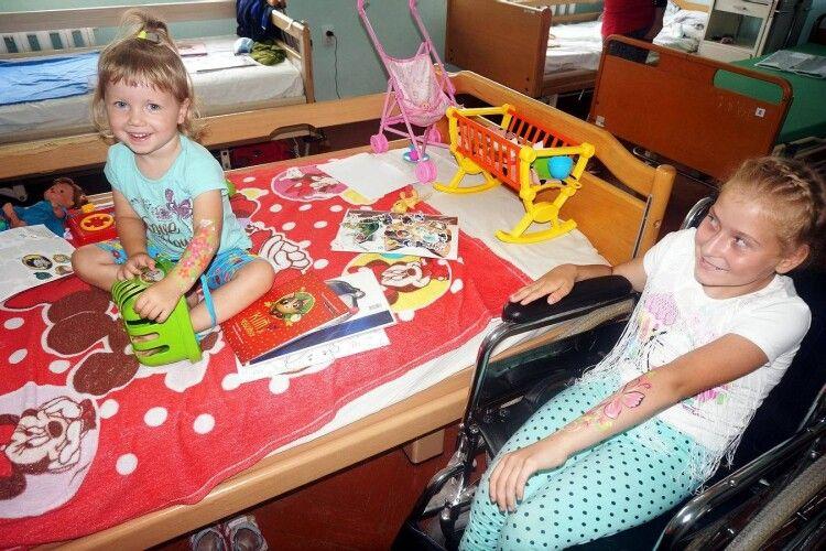 До пацієнтів Волинської обласної дитячої лікарні прийшло свято