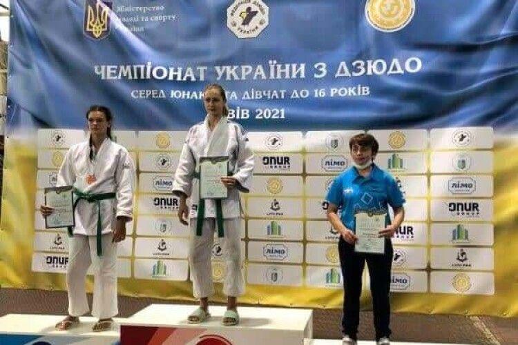 Волинянка стала чемпіонкою України з дзюдо (Фото)