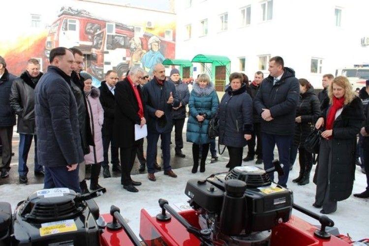 Поляки подарували нове обладнання рівненським рятувальникам