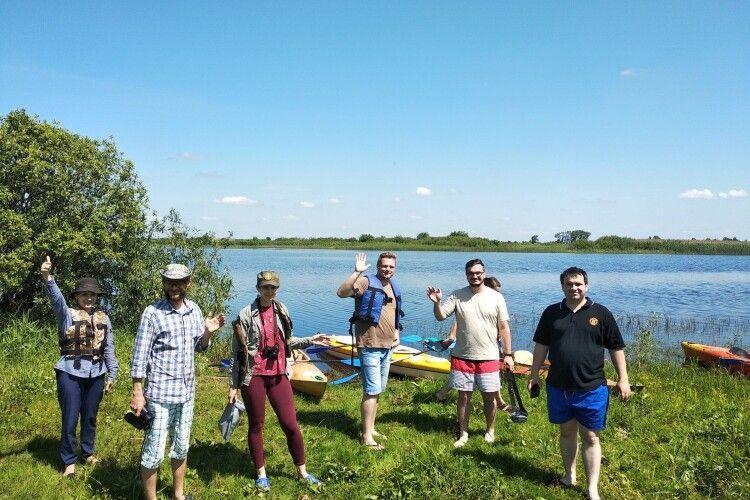 Гості протягом двох днів мандрували на байдарках таємничим Поліссям