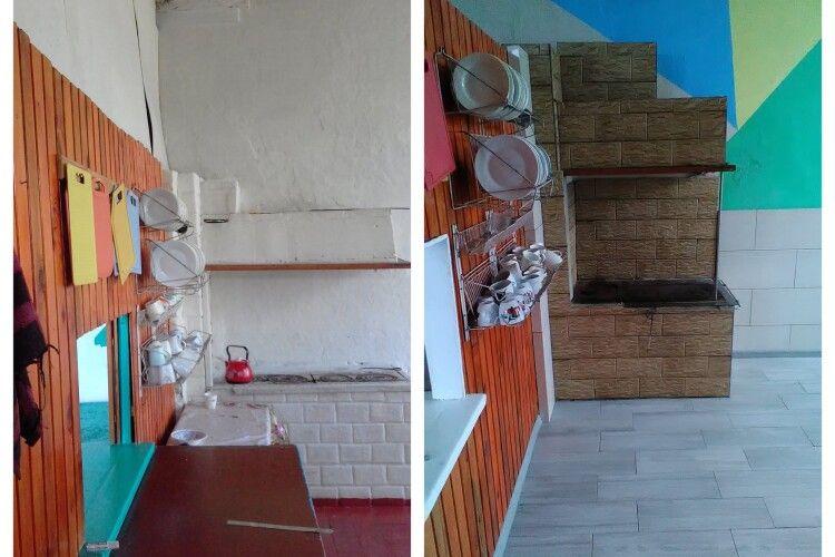 До ремонту шкільної їдальні долучилися і батьки, і вчителі, і влада (Фото)