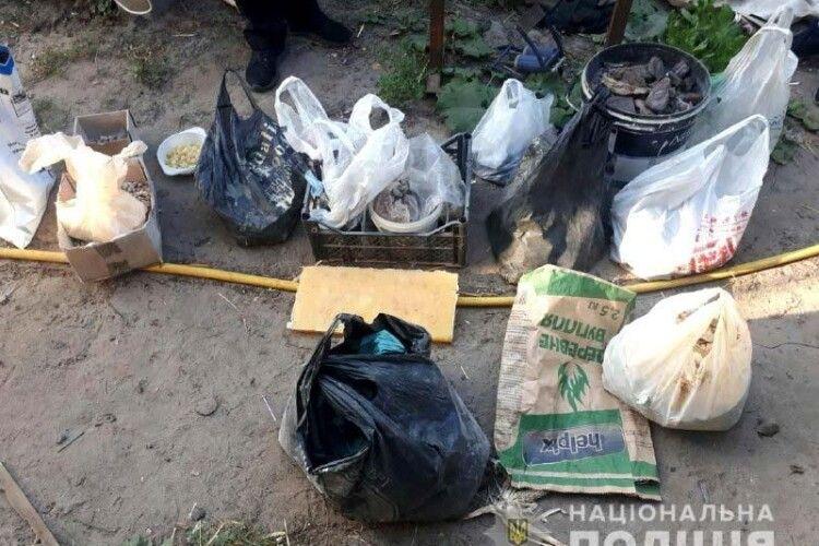 У гаражі жителя Рафалівки знайшли 37 кг бурштину (фото)