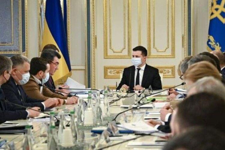 Зеленський розпорядився скликати засідання РНБО