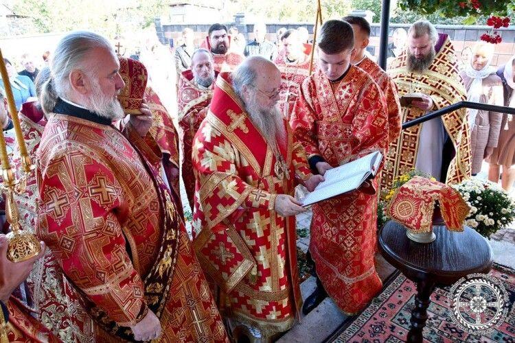 У селі на Волині відкрили нову церкву УПЦ Московського патріархату (Фото)