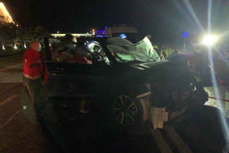 На Рівненщині зіткнулися 3 вантажівки та 2 легковики (Фото)