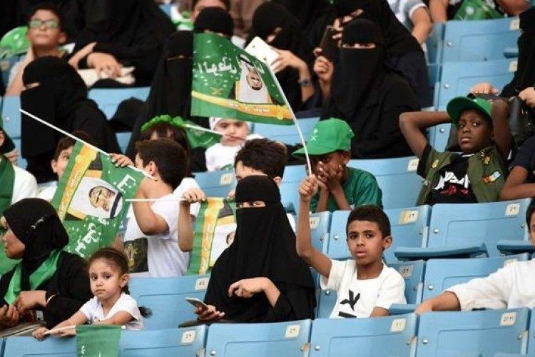Жінки в Саудівській Аравії вперше відвідали футбольний матч